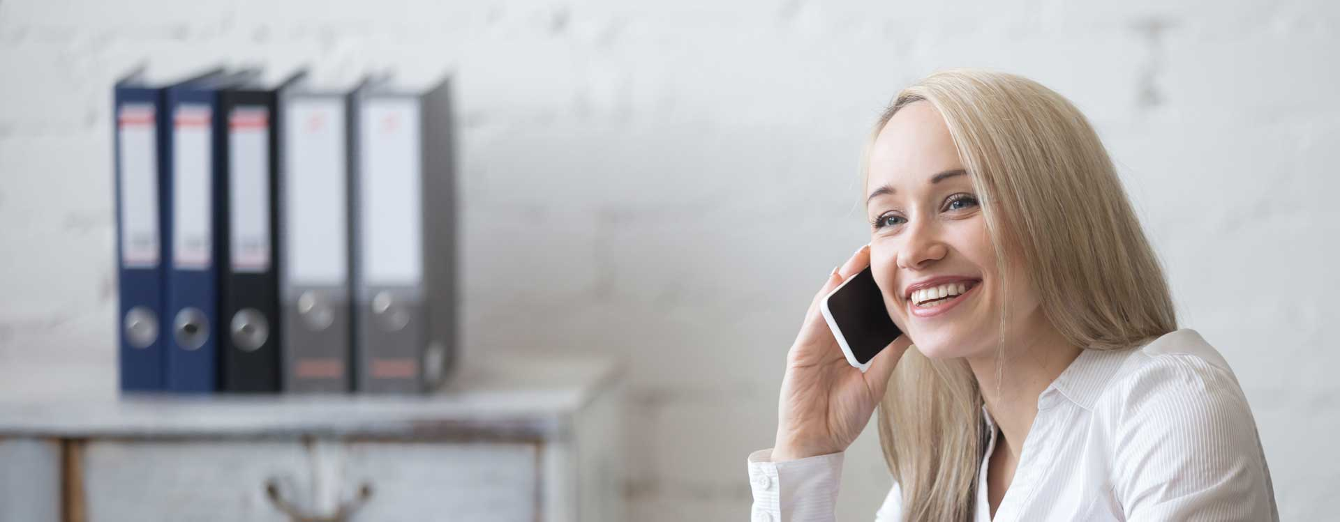 in raise happy businesswoman working her office