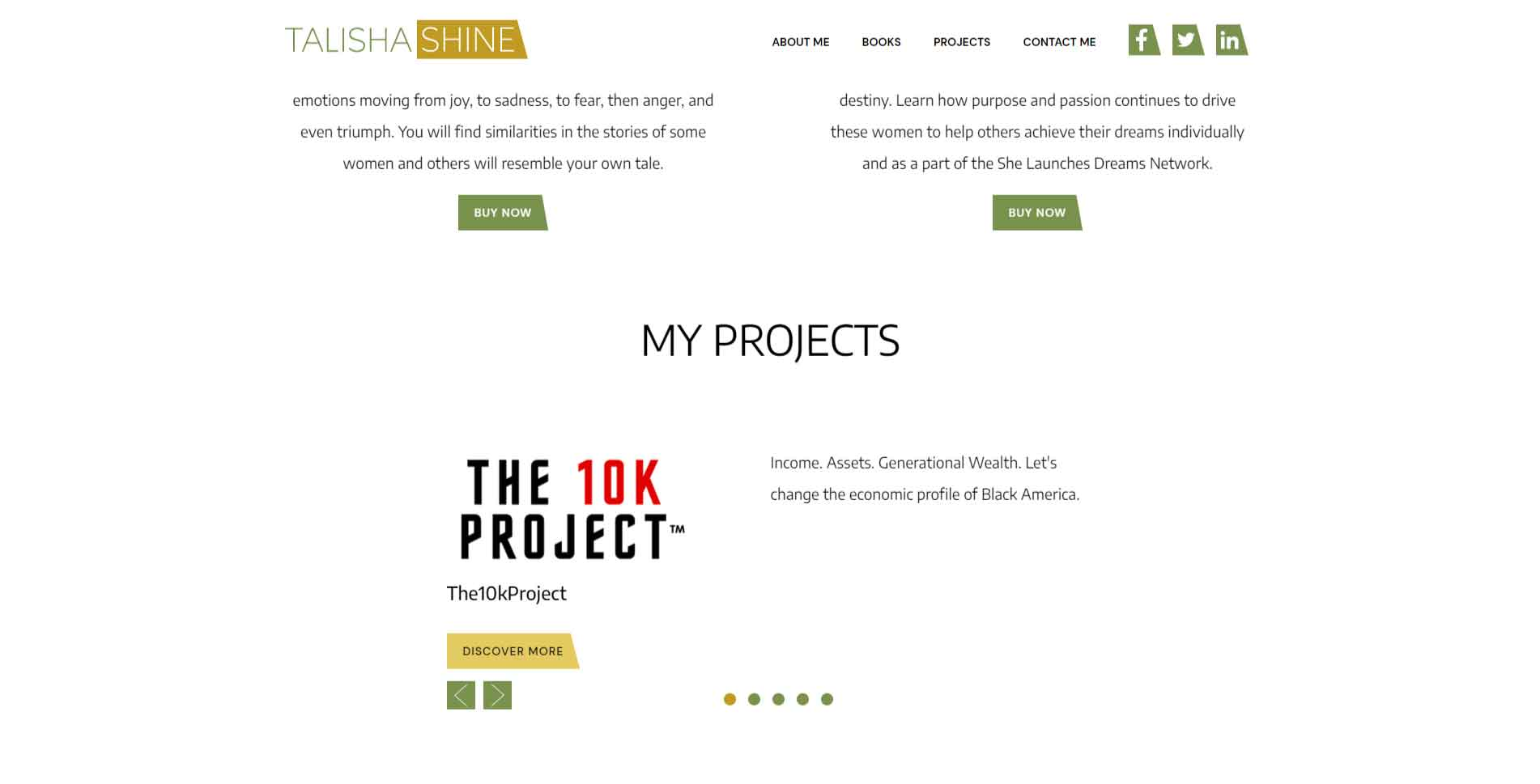 in raise talishashine project slider
